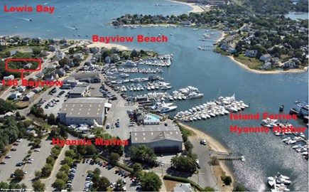 West Yarmouth Cape Cod vacation rental - Aerial View of 146 Bayview Streeth
