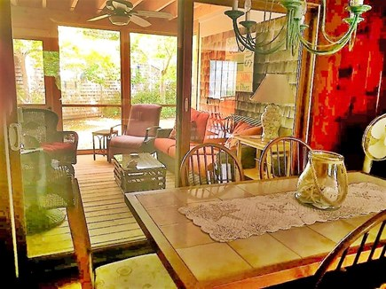 Eastham Cape Cod vacation rental - Dining area with plenty of seating opening to screen porch