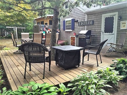 Eastham Cape Cod vacation rental - Spacious deck with grill..large yard