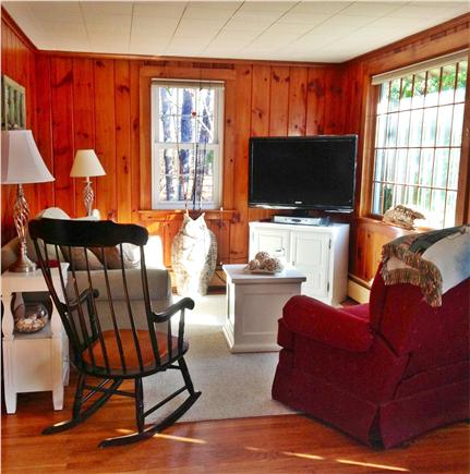 Eastham Cape Cod vacation rental - Another seating area in living room with large flat screen TV