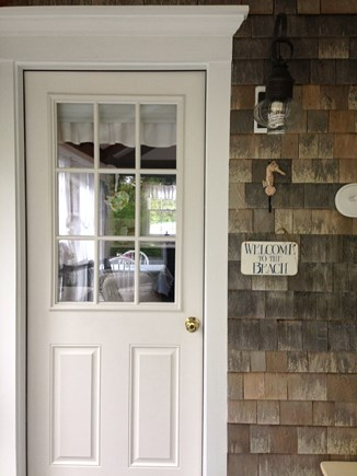 East Dennis - Sesuit Neck  Cape Cod vacation rental - Guest entrance to studio cottage
