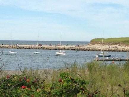 East Dennis - Sesuit Neck  Cape Cod vacation rental - View from the town landing benches - just a stroll away