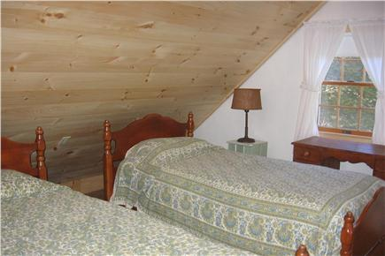 Orleans Cape Cod vacation rental - Upstairs 3 twins bedroom with ceiling fan