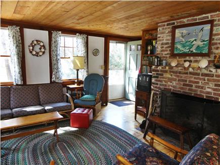 Orleans Cape Cod vacation rental - Entrance and fireplaced living room