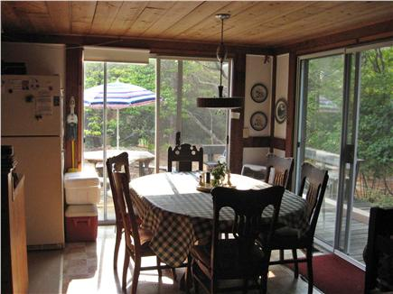 Orleans Cape Cod vacation rental - Dining area with sliders to wrap-around deck