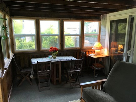 Eastham Cape Cod vacation rental - Porch with many sealed breezy windows &  door to relax on Futon