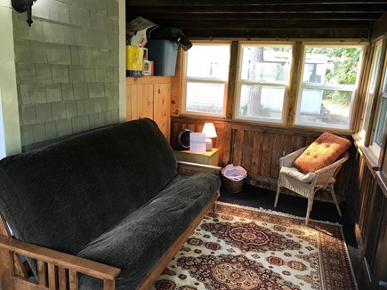 Eastham Cape Cod vacation rental - Renovated porch with a new comfortable futon to sit or sleep