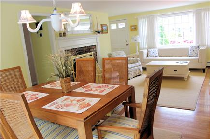 Yarmouth Cape Cod vacation rental - Dining room looking into living room (Taken Summer, 2015)