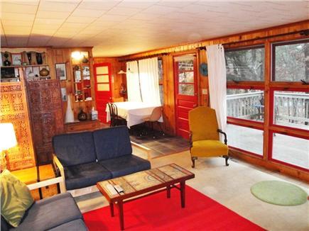 Wellfleet Cape Cod vacation rental - Living room looking towards kitchen