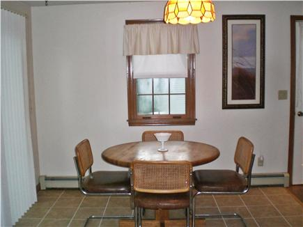 South Yarmouth Cape Cod vacation rental - Dining area and Sliding Door to Deck