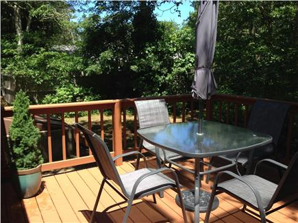 South Yarmouth Cape Cod vacation rental - Deck, 12x14 with Charcoal Grill & Picnic Table and chairs