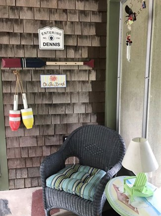 East Dennis Cape Cod vacation rental - Breezeway sitting area