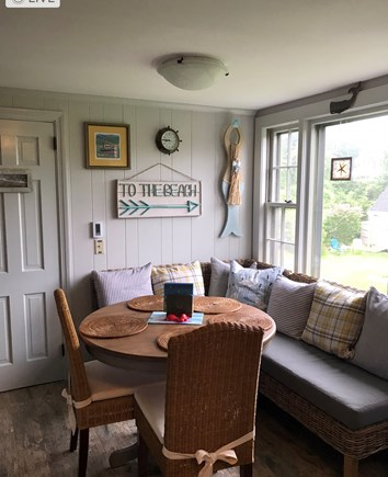 East Dennis Cape Cod vacation rental - Bright eat-in kitchen that overlooks private backyard