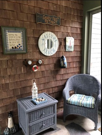 East Dennis Cape Cod vacation rental - Another view of sitting area in breezeway