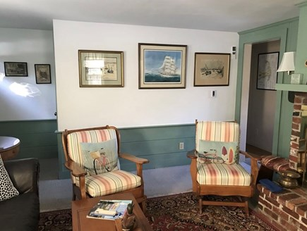 East Dennis Cape Cod vacation rental - Another view of the living room seating area