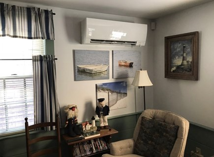 East Dennis Cape Cod vacation rental - Living room with 18,000 BTU's of air-conditioning
