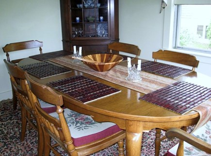 East Dennis Cape Cod vacation rental - Dinning room area