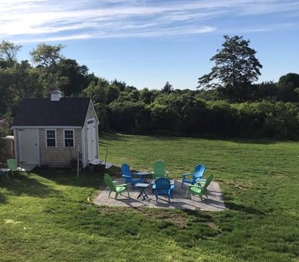 East Dennis Cape Cod vacation rental - Backyard firepit area