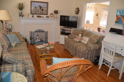 South Yarmouth Cape Cod vacation rental - Bright cozy living room is perfect for relaxing or watching TV