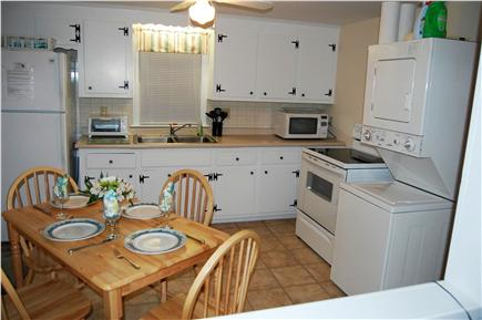 South Yarmouth Cape Cod vacation rental - Clean white kitchen is equipped with a new stove