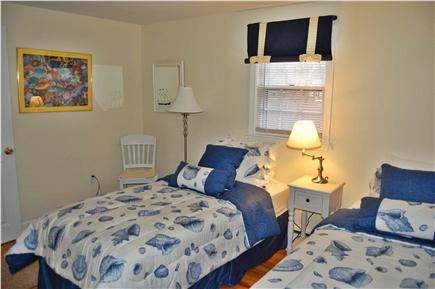 South Yarmouth Cape Cod vacation rental - The ''blue'' room has a closet and seaside decor