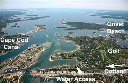 Onset MA vacation rental - Water Water everywhere...this is an aerial the arrow is the home