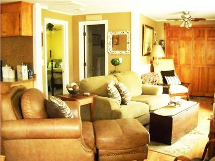 Onset MA vacation rental - Master bedroom with sliders to padio & laundry room w/ full bath