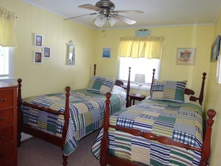 Onset MA vacation rental - Upstairs bedroom with two twin beds