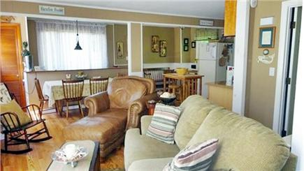 Onset MA vacation rental - Upstairs living room, kitchen, dining area,full bath and bedroom