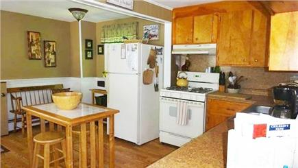 Onset MA vacation rental - Kitchen with dishwasher and gas stove.