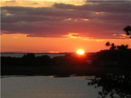 Wellfleet Cape Cod vacation rental - Sunset from the deck