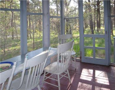 Wellfleet Cape Cod vacation rental - Screened in porch. Great for breakfast!