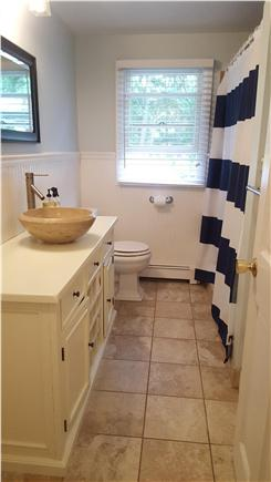 Orleans Cape Cod vacation rental - Bath with beautifully tiled large shower and vessel sink