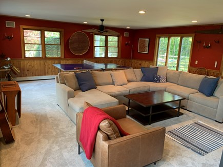 Eastham Cape Cod vacation rental - Large family room with 46'' TV, cable, DVR, and ping pong table.