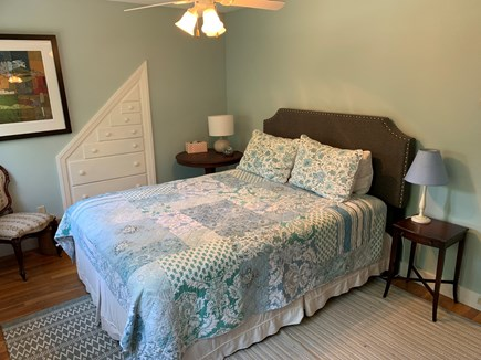Eastham Cape Cod vacation rental - Queen bedroom with built in dresser and lots of light.