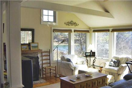Chatham Cape Cod vacation rental - Family room/windows overlook Oyster River