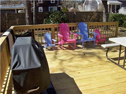 South Yarmouth Cape Cod vacation rental - Large deck with gas grill and large picnic table.