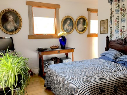 N. Truro Cape Cod vacation rental - Queen size bed, TV monitor for DVD's and two walk-in closets