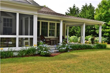 Brewster Cape Cod vacation rental - Wrap-around porch facing view