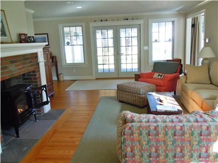 Brewster Cape Cod vacation rental - Living room opens to screened porch