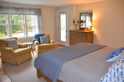 Brewster Cape Cod vacation rental - Master bedroom with access to porch and private bath
