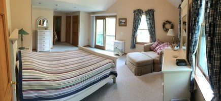 Eastham Cape Cod vacation rental - Master Bedroom Suite on 2nd floor: queen bed, bath w/ jacuzzi tub