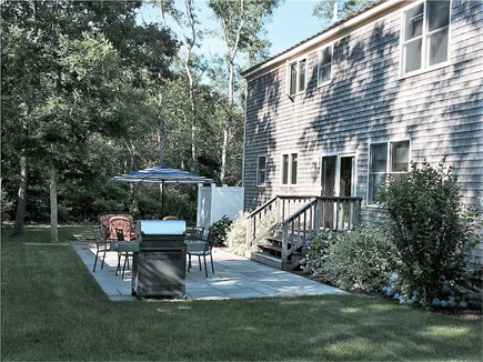 Eastham Cape Cod vacation rental - Blue stone patio with seating, Weber grill and outdoor shower