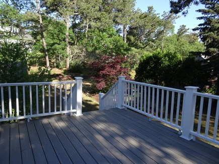 South Harwich Cape Cod vacation rental - New large deck with grill; table/chairs for summer BBQ's- shower