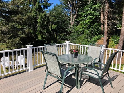 South Harwich Cape Cod vacation rental - Deck overlooking large private backyard