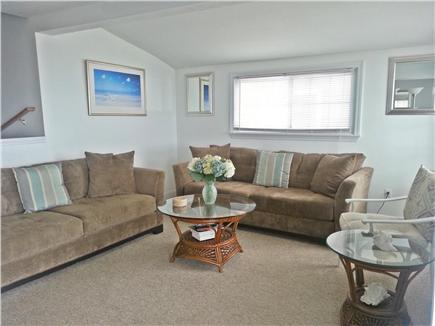 Marshfield, Brant Rock MA vacation rental - Living Room - seating for 10 with double slider doors to deck