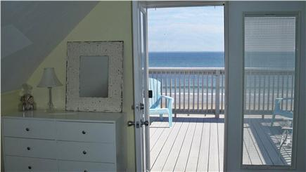 Marshfield, Brant Rock MA vacation rental - Upstairs queen master w/ screened doors to private deck