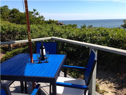 Wellfleet Cape Cod vacation rental - Enjoy drinks on the deck with ocean views