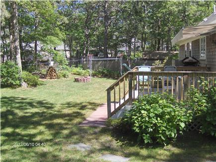 Dennis Cape Cod vacation rental - Private back yard with deck
