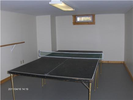Dennis Cape Cod vacation rental - Ping pong table in finished basement